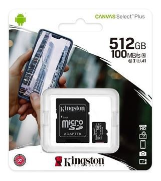 Imagen de Memoria Micro SD Kingston 512gb Canvas