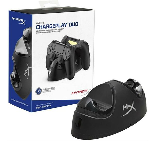 Imagen de Cargador Playstation 4 Hyperx Chargeplay Duo Gamer HX-CPDU-C