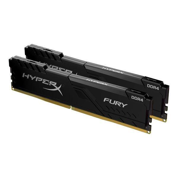 Imagen de Memoria HyperX Fury 64gb kit 2 DDR4 Gamer PC 2666 HX426C16FB3K2/64