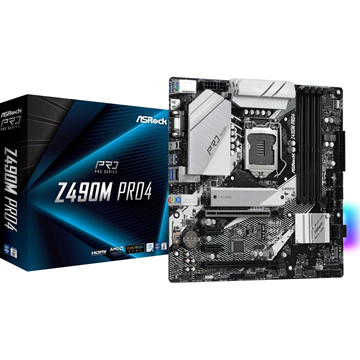 Imagen de Asrock Z490m Pro4 Intel 1200