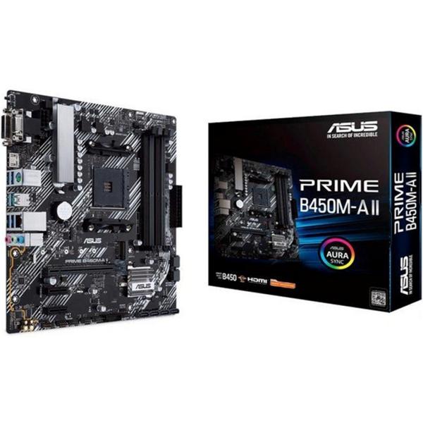Imagen de ASUS PRIME-B450M-A-II Rgb AMD 5000 Am4