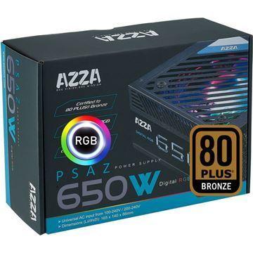 Imagen de AZZA 650w Reales Gamer 80 Plus RGB