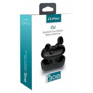 Imagen de Auricular Cliptec 308 Wireless C/caja Carga Red