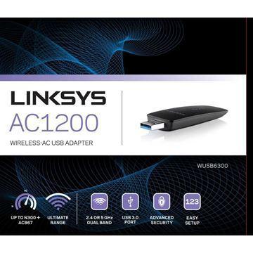 Imagen de Adaptador Linksys Ac1200 Wusb6300 Usb Wireless