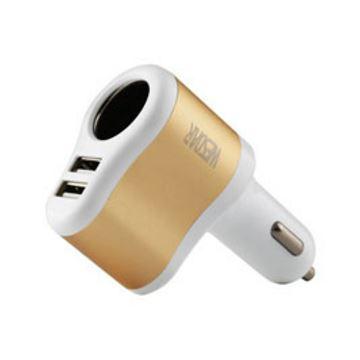 Imagen de Cargador Auto U2 Wesdar Dual Usb/cigarette White