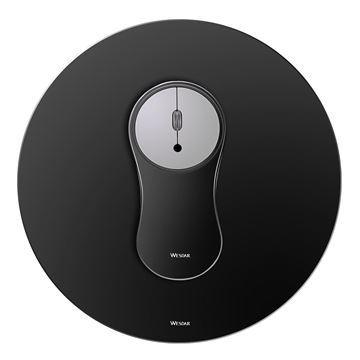 Imagen de Combo Wesdar Aluminio Mp1 Mouse/mousepad Black