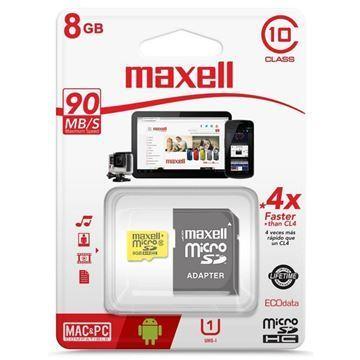 Imagen de Memoria Mic Sd Maxell Hc 8gb C10 C/adaptador