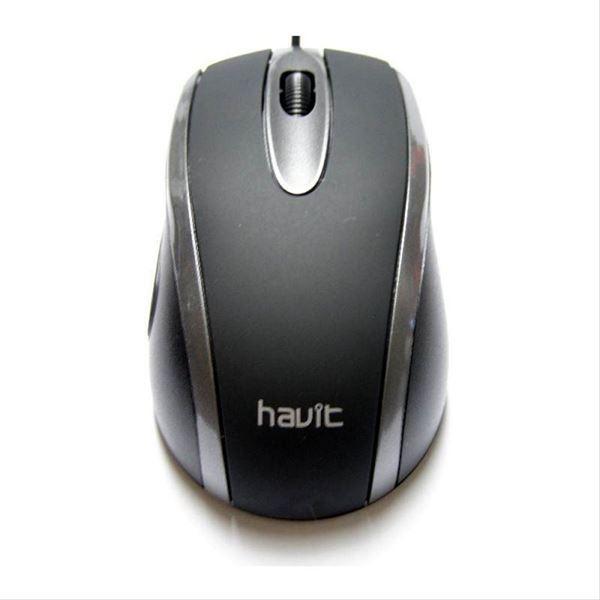Imagen de Mouse Havit Usb Ms753 Black/grey