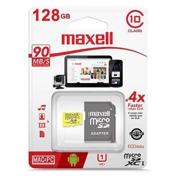 Imagen de Memoria Mic Sd Maxell Xc 128gb C10 C/adapt 90mb/s
