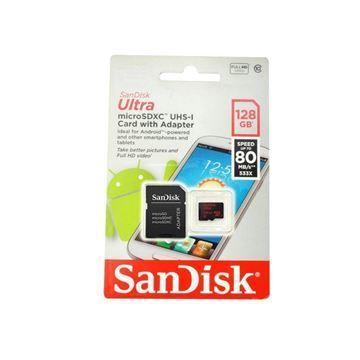 Imagen de Memoria Mic Sd Sandisk Uhs-i 128gb C10 C/ad 100mbs
