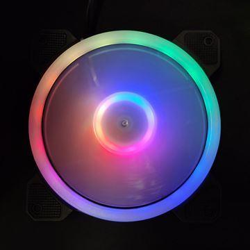 Imagen de Kit 3fan Rgb + Hub + Control Remoto Perseo