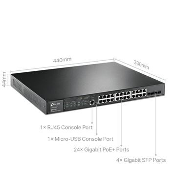 Imagen de Switch Tpl Js 28p Gbit Poe Adm L2 Man Sg3428mp