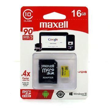 Imagen de Memoria Mic Sd Maxell Hc 16gb C10 C/adaptador