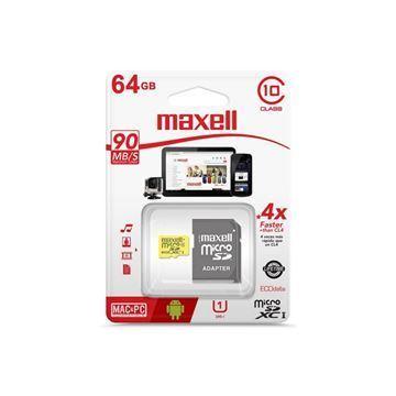 Imagen de Memoria Mic Sd Maxell Xc 64gb C10 C/adaptador