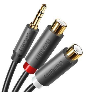 Imagen de Cable Ugreen 3.5 Macho A 2 Rca Hembra 0.25m